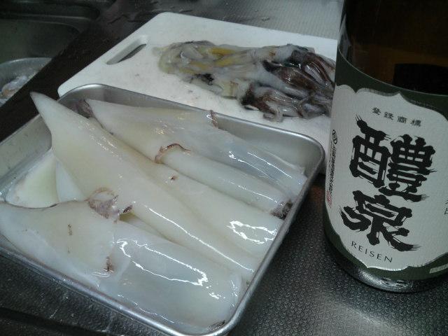 「魚錠」さんのイカで塩辛を…(家グルメ)