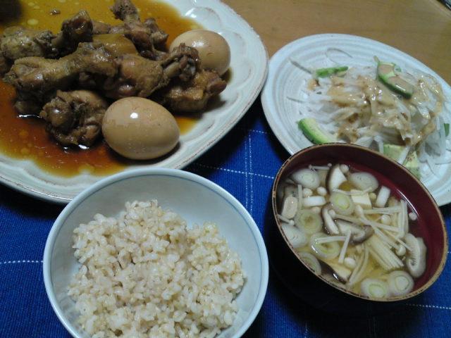 晩ごはんは「鶏のさっぱり煮」(家グルメ)