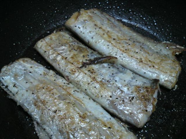 太刀魚のソテーレモンバターソース(家メシ)