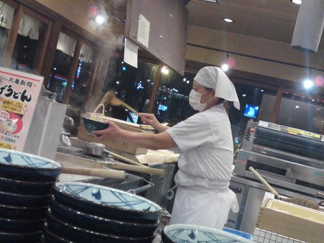 明太かま玉の食べ方(食べ歩き/江南市)