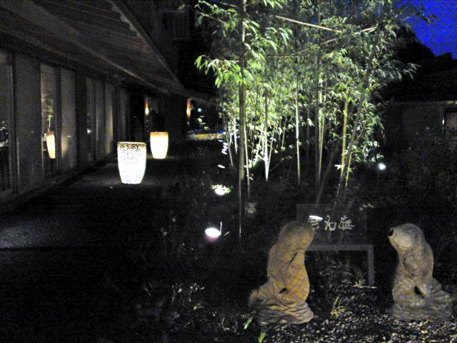 「ばさら邸」の露天風呂