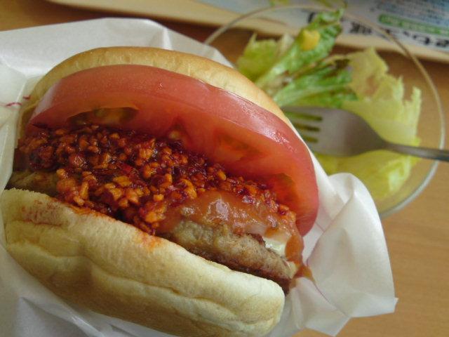 テリー伊藤のざくざくラー油バーガー(食べ歩き/北名古屋)