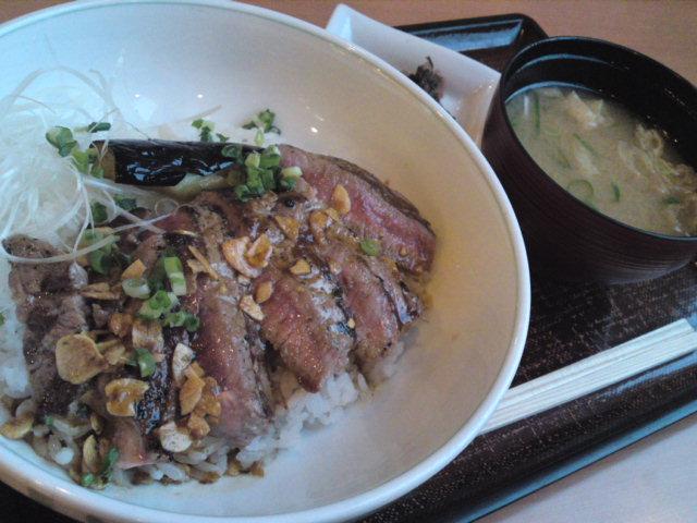 デニーズさんのステーキ丼(食べ歩き/江南市)