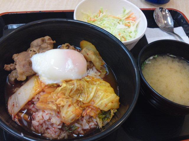 吉野家さん「牛キムチクッパ」スタート!(食べ歩き/江南市)