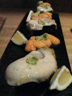 「森海(しんかい)」さんの牡蛎。(食べ歩き/各務原市)