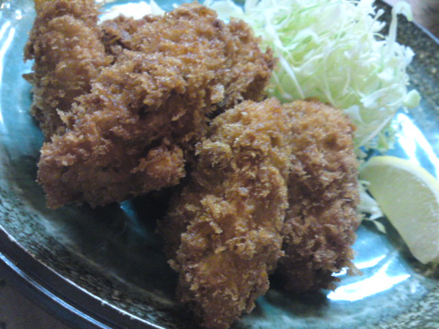 「船はし」さんの牡蛎フライ(食べ歩き/江南市)