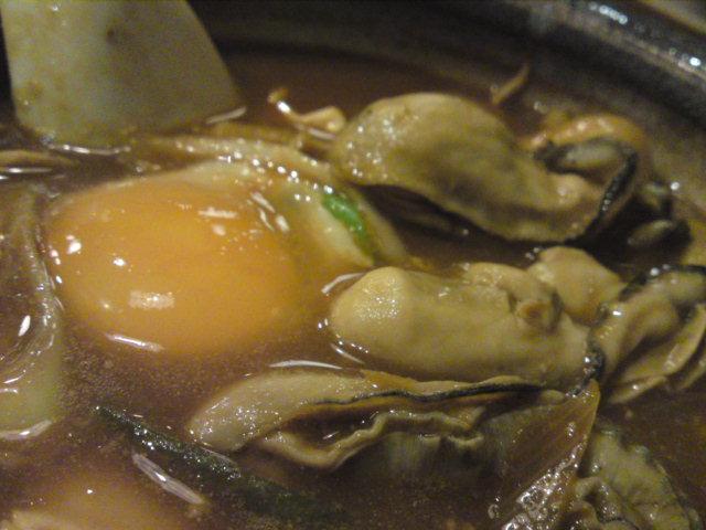 あけまして、もつ、牡蛎、味噌煮込み。