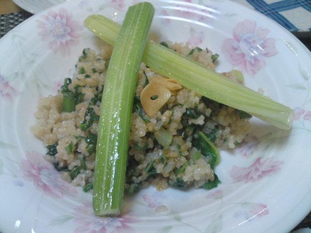 紅茶豚と玄米炒飯(家メシ)